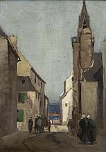 Norman Garstin (1847-1926) Figures in a Breton