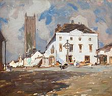 Eva Henrietta Hamilton (1876-1960)  View from the Square of Monasterevin Oi