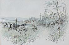 James English RHA (b.1946)Summer GrassesWatercolour, 32 x 48cmArtist's label verso