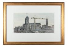 Maurice MacGonigal PRHA (1900-1979)Christchurch, 1978Watercolour, 20 x 39cm (7¾ x 15¼'')Provenance: With Taylor Galleries, Dublin.