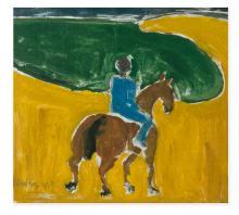 MICHAEL KANE (b.1935)Figure on HorsebackGouache, 35 x 38cm Signed and dated 28/5/'63