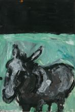 MICHAEL KANE (b.1935)Donkey in LandscapeGouache, 54 x 35cmSigned and dated (19)'65