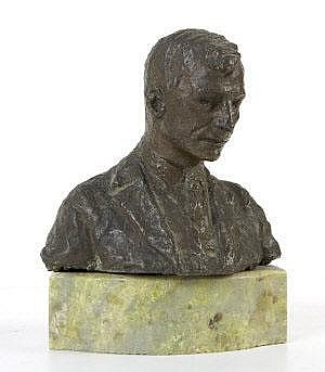 Jerome Connor (1874-1943) Bust of Eamon De Valera,