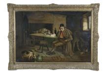 IRISH SCHOOL (19TH CENTURY) The OpportunistOil on canvas, 62 x 90cm