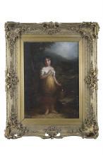 AFTER THOMAS GAINSBOROUGHThe Cottage GirlOil on canvas, 56.5 x 41cm