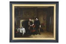 DUTCH SCHOOL (18TH CENTURY)The IntroductionOil on canvas, 59 x 73cm