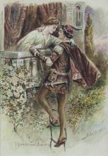 JOHN CAREY (1861-1943)Romeo & Juliet; Othello & Desdemona Watercolour, a pair, each 22.8 x 15.25Signed (2)