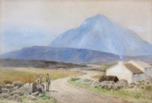 JOSEPH W. CAREY RUA (1859-1937)Errigal DonegalWatercolour, 25 x 37cmSigned, inscribed and dated 1933 by the same hand.
