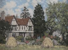 MABEL YOUNG RHA (1889-1974)County Wicklow Country HouseOil on board, 30 x 40cm (11¾ x 15¾'')Signed