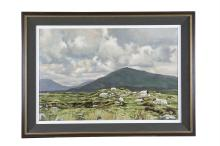 PAT PHELAN (b.1966)Mountain Landscape with SheepOil on canvas, 50 x 75cmSigned