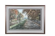 PAT PHELAN (b.1966)Canal LandscapePastel, 40 x 61cmSigned