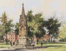 COLIN GIBSON (B.1948)Castle Park, Lisburn (1978)Oil on board, 36 x 46cmSigned and inscribedProvenance: With the Bell Gallery.
