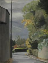 PHOEBE DONOVAN (1902-1979)A Tree Lined RoadwayOil on board, 40 x 30cmSignedProvenance: Captain HCP Hamilton, Moyne, Durrow, Co. Laois; thence by descent.