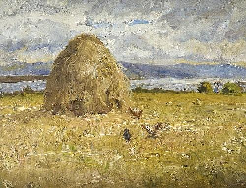 Estella Solomons HRHA (1882-1968) Haystack with