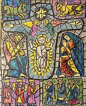Gerard Dillon (1920-1971) The Nativity Wax crayon,