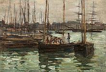 Aloysius O'Kelly (1853-1936) Boats at Concarneau