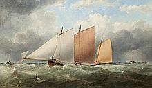 Matthew Kendrick RHA (1805-1874) Yacht Racing in