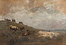 Nathaniel Hone RHA (1831-1917) Cattle at Malahide