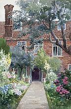Mary Georgina Barton (1861-1949) Garden at Saling