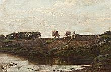 Augustus Nicholas Burke RHA (1839-1891) Cattle on