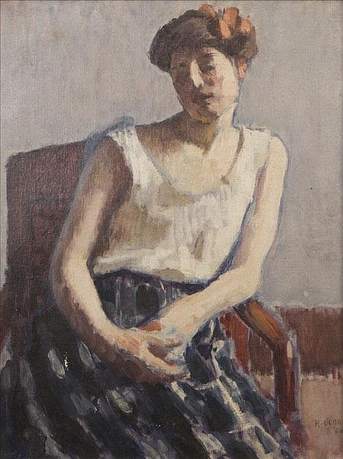 RODERIC O'CONOR (1860-1940) < br> Femme Assise <