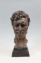 Sir Jacob Epstein (1880-1959) Portrait bust of 'Tiger King', Man of Aran Bronze, 50cm high (20'') including base Dated 1934 Provenance: Sotheby's Sale, June 1977 where purchased by current owners. The documentary film, Man of Aran, made by Robert