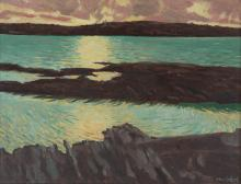 Maurice MacGonigal PRHA (1900-1979)Coastal Scene, West of IrelandOil on board, 30 x 36cm (11¾ x 14¼'')Signed