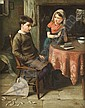John Wells Smith (19th Century) The Lesson Oil on, John Wells Smith, Click for value