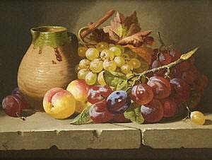 Charles Thomas Bale (fl.1886-1875) Fruit and an