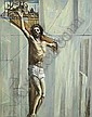 Simon Coleman RHA (1916-1995) The Crucifixion Oil, Simon Coleman, Click for value