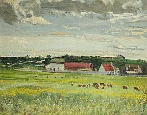 Simon Coleman RHA (1916-1995) Landscape, Duleek
