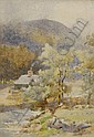 Gladys Wynne (1876-1968) Cottage by a River,, Gladys Wynne, Click for value
