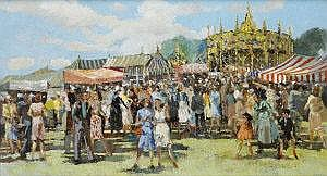 James Le Jeune RHA (1910-1983) Fun at the Fair Oil