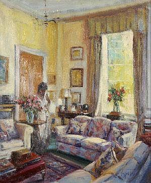 Norman Teeling (b.1944) Interior Oil on canvas