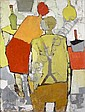 Michael Kane (b. 1935) Figures In A Kitchen Oil on