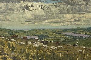 Desmond Stephenson ARHA (1922-1963) Cattle in a