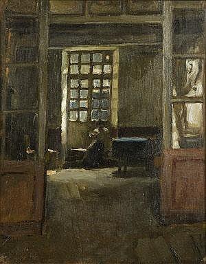 Norman Garstin (1847-1926) The Breton Needleworker