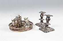 A FINE COLLECTION OF SILVER PLATED ITEMS,
