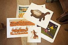 Chris Reid Tortoise Coloured print Signed