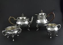 AN IRISH FOUR PIECE CELTIC REVIVAL TEA AND COFFEE