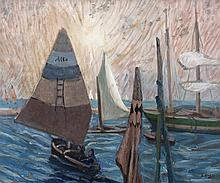 Grace Henry HRHA (1868-1963)Sailing Boats, ChioggiaOil on canvas, 46 x 55cm (18 x 21¾'')Signed