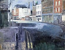 Donald Teskey RHA (b.1956)Thomas Street, DublinOil on canvas, 168 x 213.5cm (66 x 84'')Signed. Also signed, inscribed and dated 2004 versoDonald Teskey was born in Castle Matrix, Co. Limerick and studied Fine Art in the Limerick College of Art a