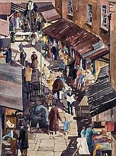 Fergus O'Ryan RHA (1910-1989)Dublin MarketWatercolour, 40 x 30cm (15¾ x 11¾'')Signed