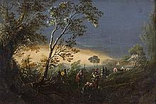 William Sadler II (1782-1839)A Clearing in a Forest with FiguresOil on panel, 13.5 x 20.5cm (5¼ x 8'')Provenance: With Cynthia O'Connor Gallery, Dublin