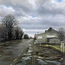 Eugene Conway (b.1965)Maxol Garage, Kilkenny RoadOil on canvas, 80 x 80cm (31½ x 31½'')SignedProvenance: With the Molesworth Gallery, Dublin, April 2002