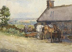 Kate Dobbin (1868-1948) Lisaniskey Forge (Near