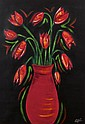 Esvelle Coyle (20th/21st Century) A Vase of Tulips