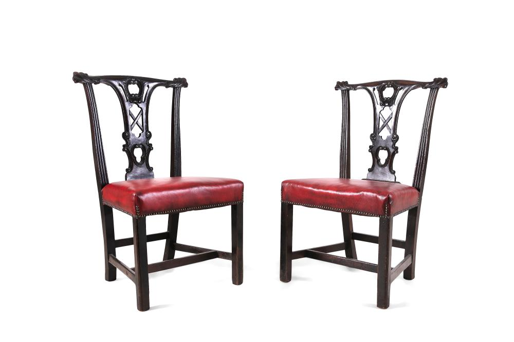 Astonishing A Pair Of Mahogany Dining Chairs Irish Mid 19Th Century To Caraccident5 Cool Chair Designs And Ideas Caraccident5Info