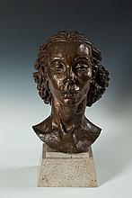 Sir Jacob Epstein (1880 - 1959)Portrait of Pola Givenchy (c. 1937)Bronze with brown and gold patina