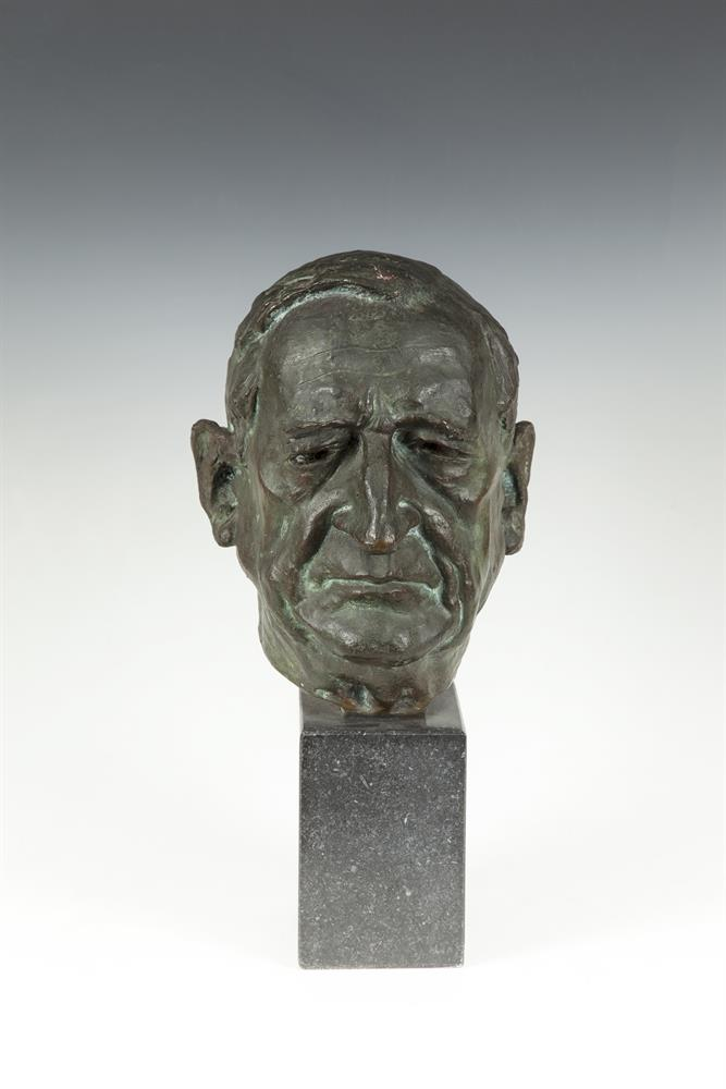 Gary Trimble ARHA (1929-1979)Eamon de Valera, President of IrelandBronze, 28cm high (11''), raised on a rectangular limestone base, 42cm high overall (16½'')Signed, from an edition of nine